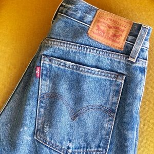 Levi's Wedgie Icon Fit Blue Jeans